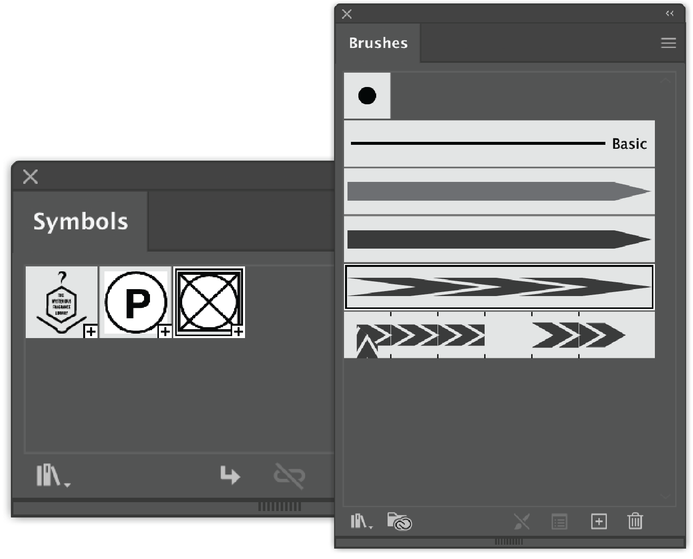 Brushes and Symbols saved as template