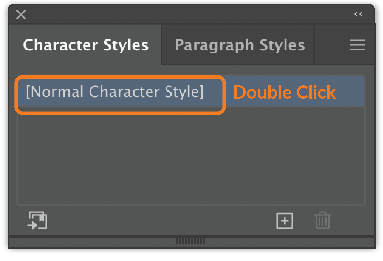 Character Style Panel