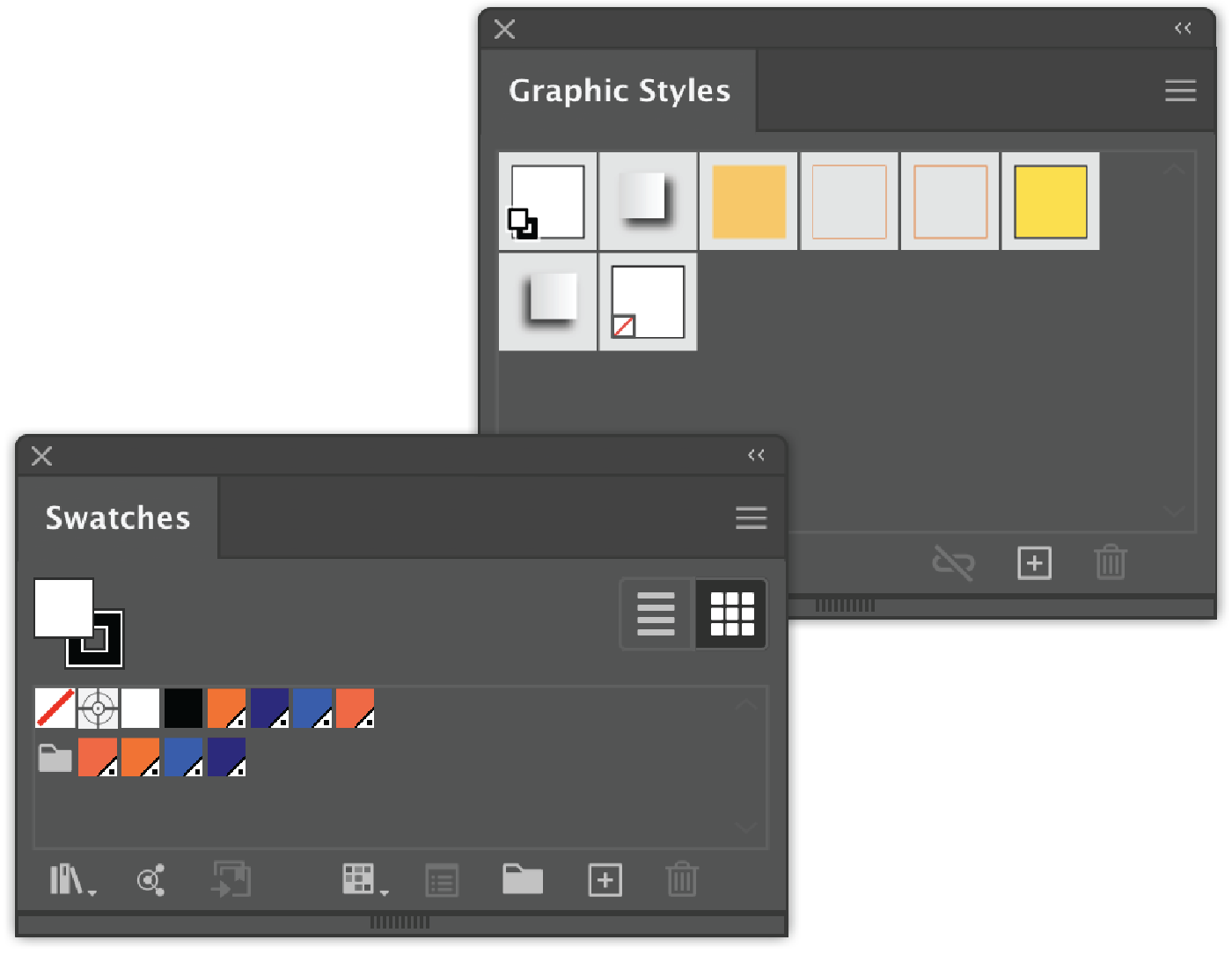 Graphic Styles and Swatches saved as Templates