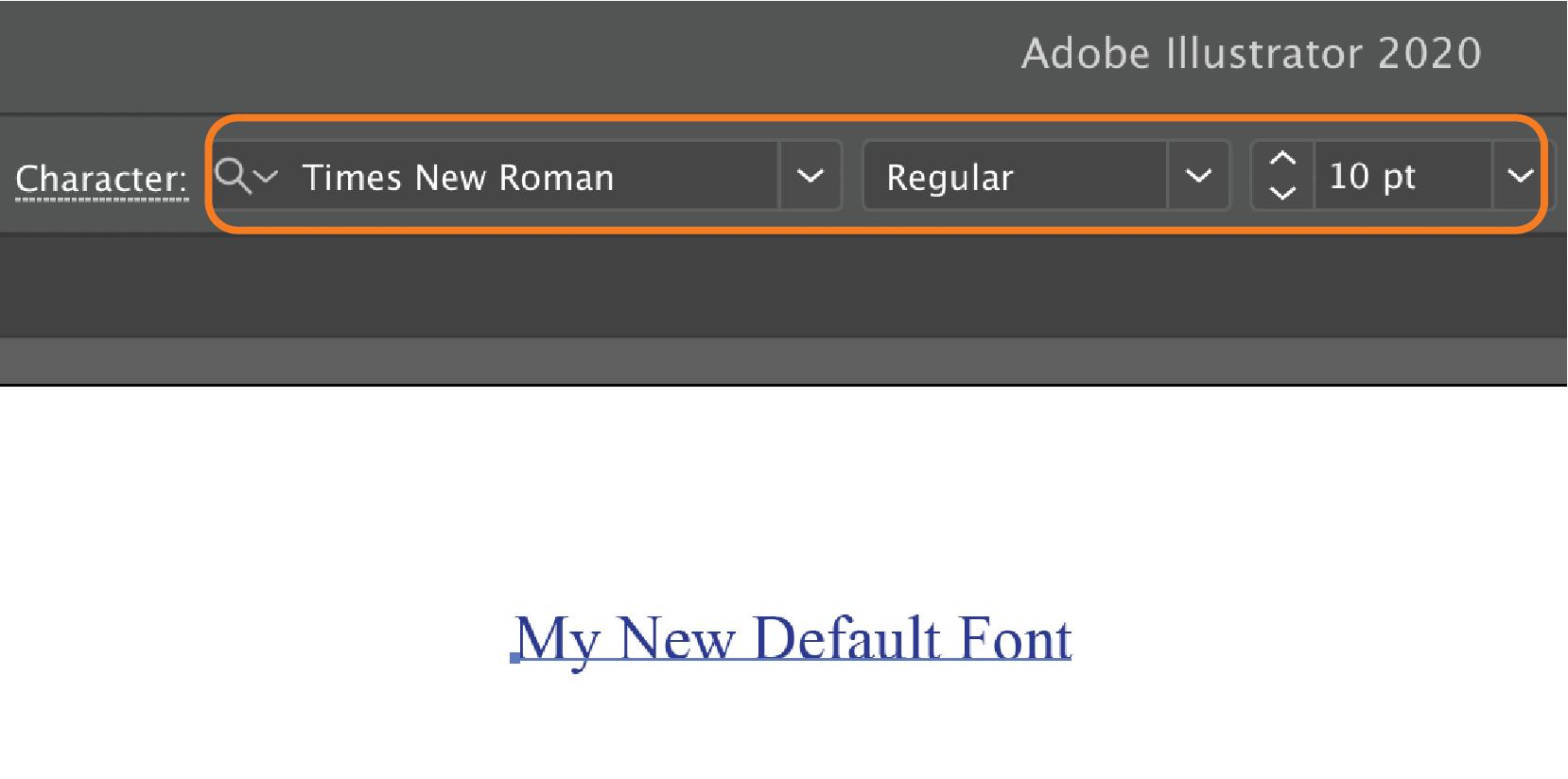 My new default font
