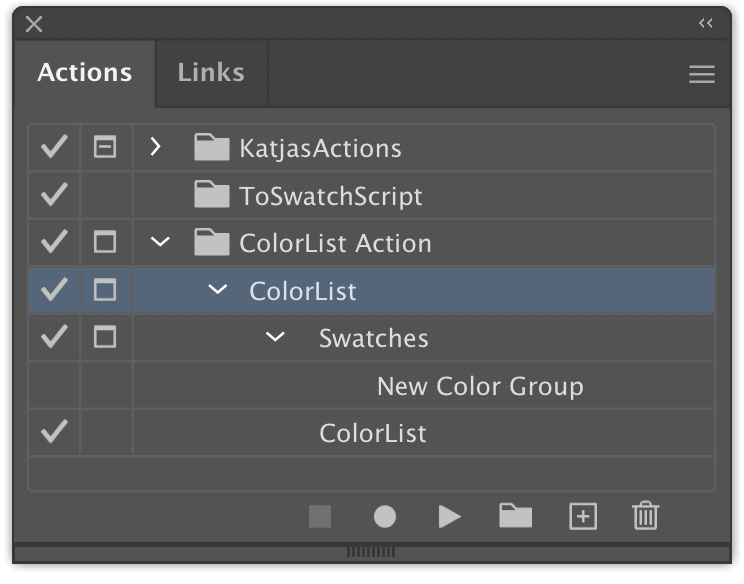 ColorList script instructions
