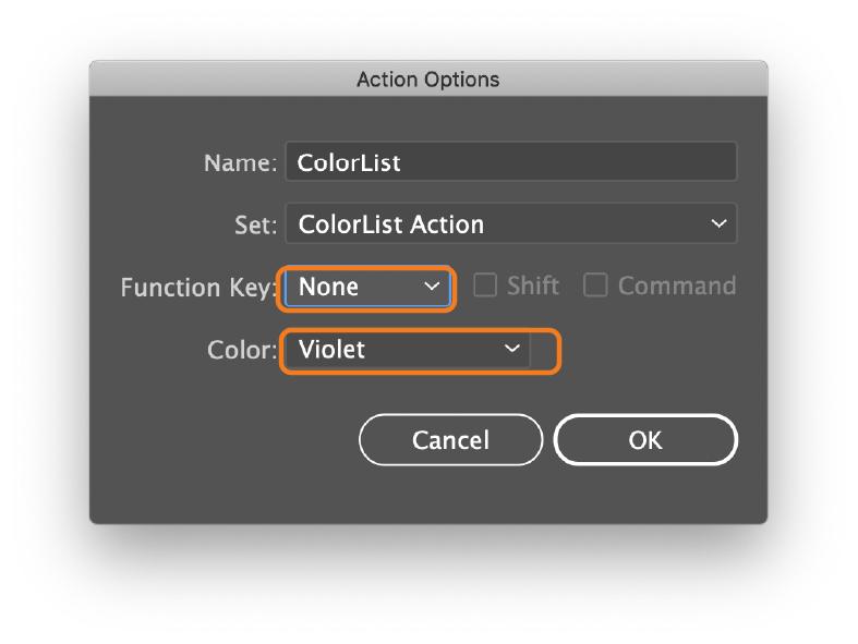ColorList script instractions
