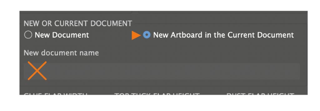 The picture to Mockapinator script shows scriptUI with new artboard