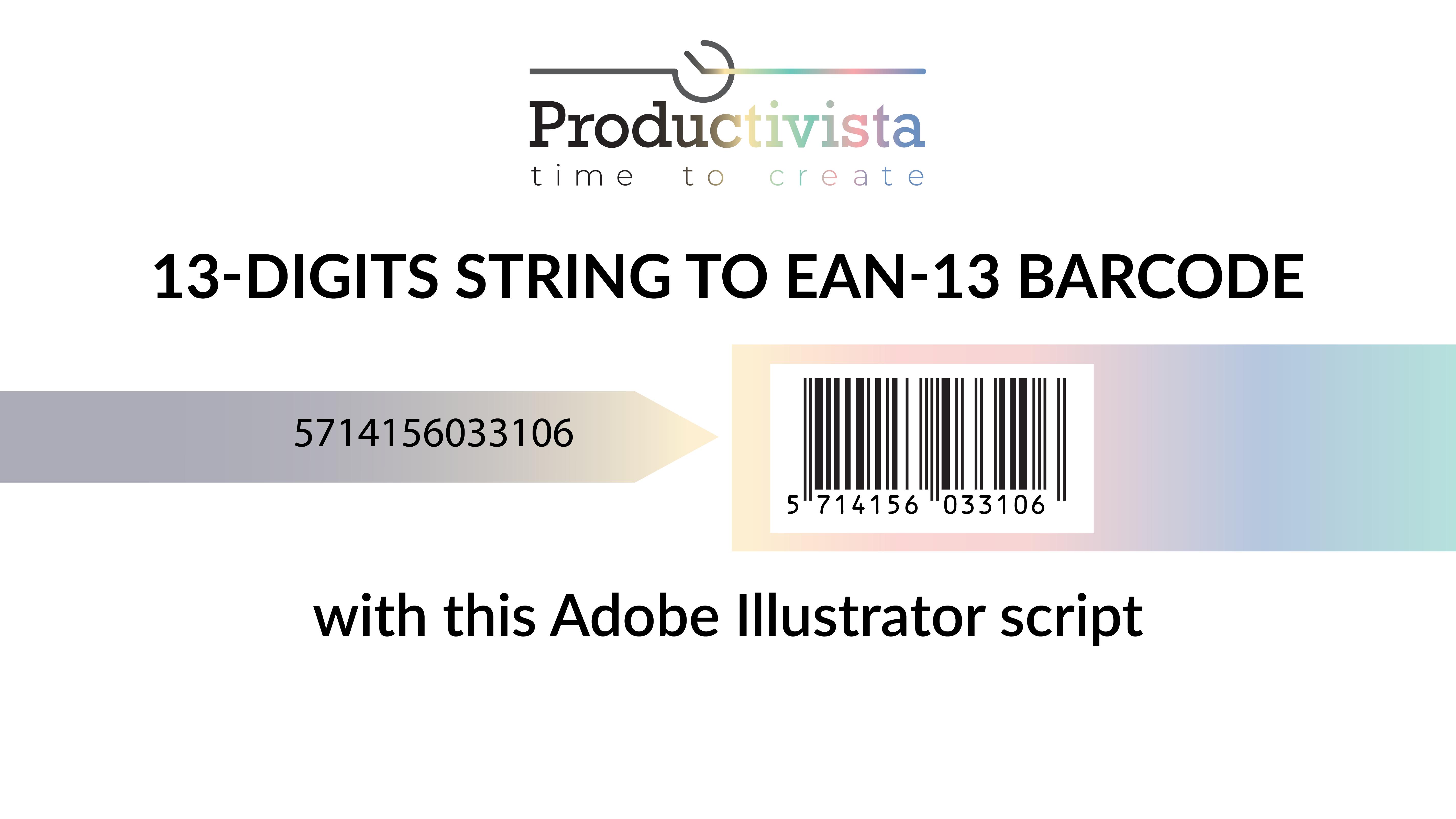 First Image barcode EAN13 script